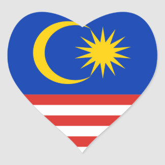 Malasia Pegatina De Corazon