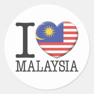 Malasia Etiqueta Redonda