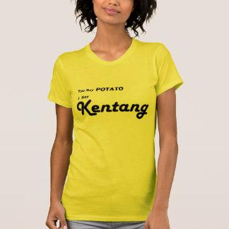 "Malasio ""usted dice la patata "" t-shirts"