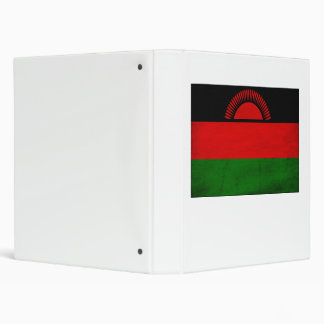 Malawi Flag 3 Ring Binder
