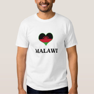 Malawi Flag Heart T-Shirt