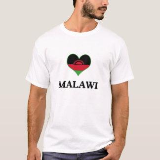 Malawi Flag Heart T-Shirt