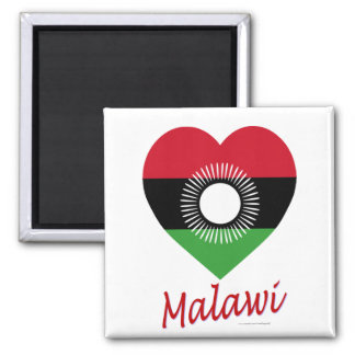 Malawi Flag Heart with Name Magnet
