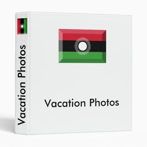 Malawi Flag Jewel 3 Ring Binder