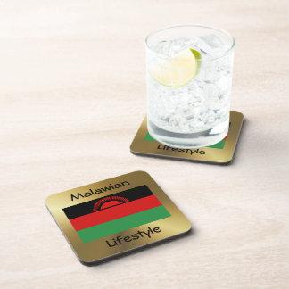 Malawi Flag+Text Coaster