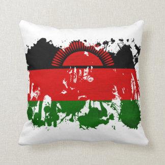 Malawi Flag Throw Pillow
