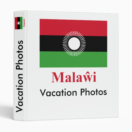 Malawi Flag with Name in Chewa Vinyl Binders