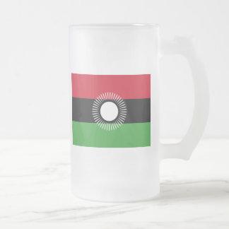 malawi former frosted glass beer mug
