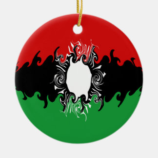 Malawi Gnarly Flag Ceramic Ornament