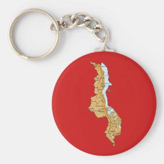Malawi Map Keychain