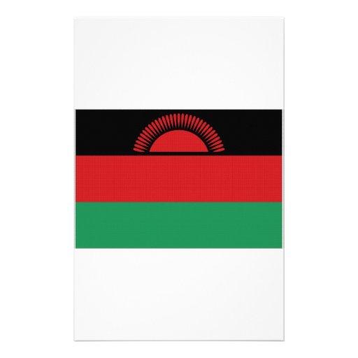 Malawi National Flag Stationery Design