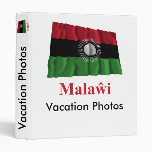 Malawi Waving Flag with Name in Chewa Vinyl Binder