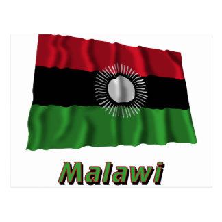 Malawi Waving Flag with Name Postcard