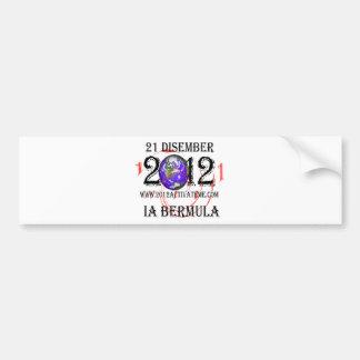 malay 2012 etiqueta de parachoque