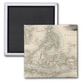 Malay Archipelago, or East India Islands 2 Inch Square Magnet