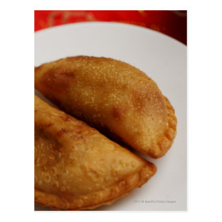 Malay curry puffs postcard
