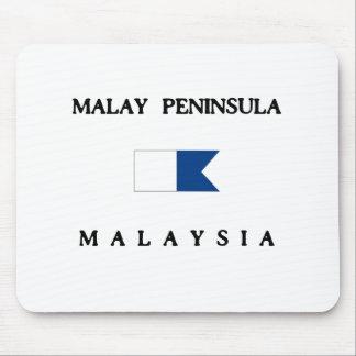 Malay Peninsula Malaysia Alpha Dive Flag Mouse Pad
