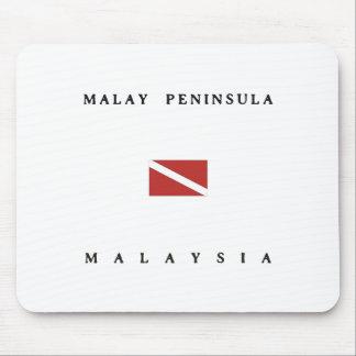 Malay Peninsula Malaysia Scuba Dive Flag Mouse Pad