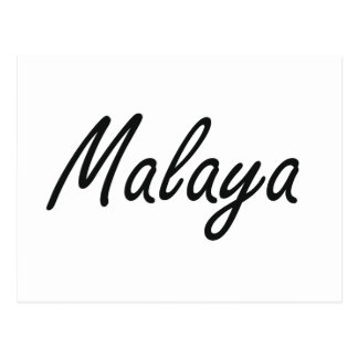 Malaya artistic Name Design Postcard