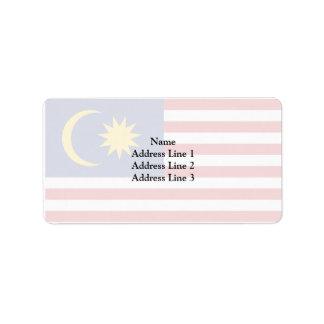 Malaya, Malaysia Address Label