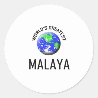 Malaya más grande del mundo pegatinas