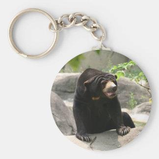Malaya sun bear keychain