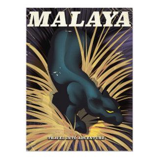 Malaya Vintage travel poster. Card