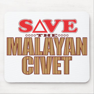 Malayan Civet Save Mouse Pad