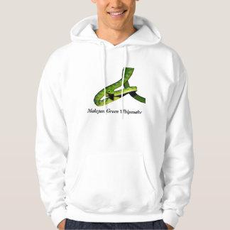 Malayan Green Whipsnake Basic Hooded Sweatshirt