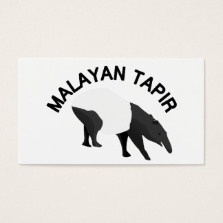 Malayan Tapir Business Card