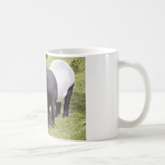 Malayan tapir on grass coffee mug