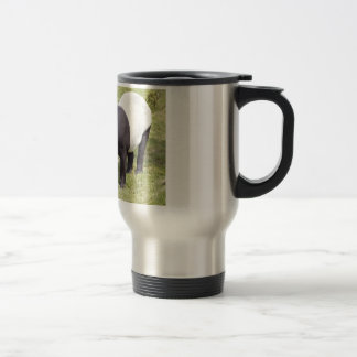Malayan tapir on grass travel mug