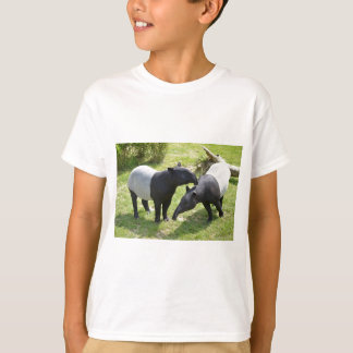 Malayan tapirs on grass T-Shirt