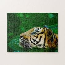 Malayan Tiger Big Cats. Jigsaw Puzzle