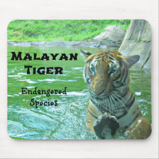 Malayan Tiger - Endangered Species Mouse Pad
