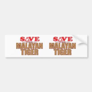 Malayan Tiger Save Bumper Sticker