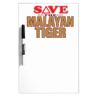 Malayan Tiger Save Dry Erase Board