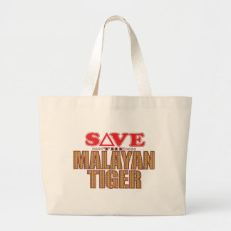 Malayan Tiger Save Large Tote Bag