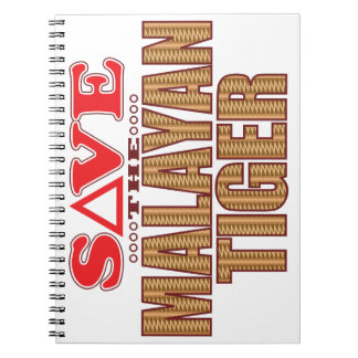 Malayan Tiger Save Notebook