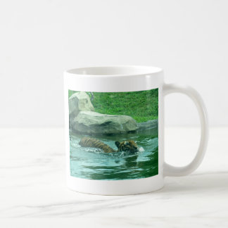Malayan Tiger swimming in stream Coffee Mug