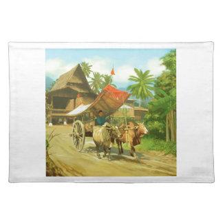 Malaysia - Bullock Cart Cloth Placemat