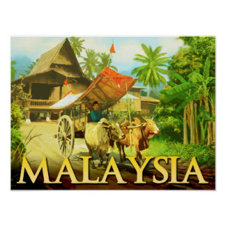 Malaysia - Bullock Cart Poster