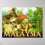 Malaysia - Bullock Cart Print