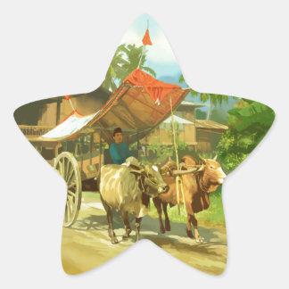 Malaysia - Bullock Cart Star Sticker