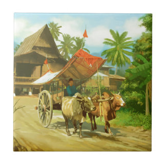 Malaysia - Bullock Cart Tile