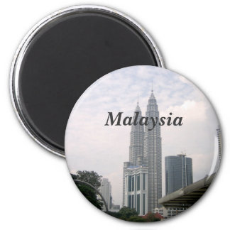 Malaysia Cityscape 2 Inch Round Magnet