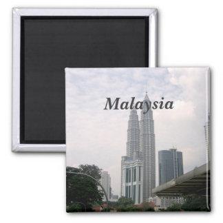 Malaysia Cityscape 2 Inch Square Magnet