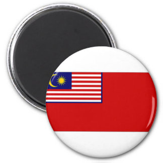Malaysia Civil Ensign 2 Inch Round Magnet