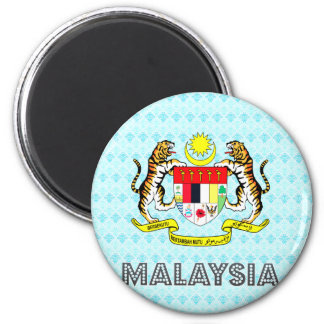 Malaysia Coat of Arms 2 Inch Round Magnet