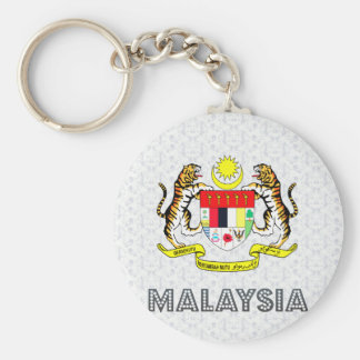 Malaysia Coat of Arms Basic Round Button Keychain